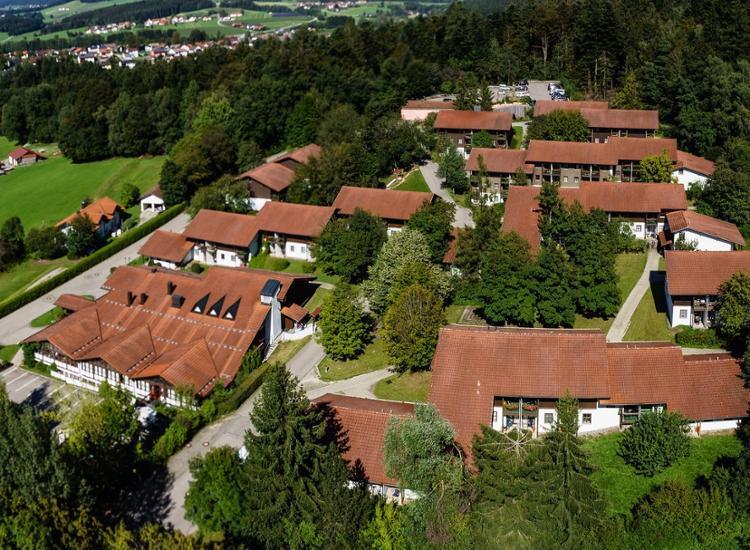 Hotelresort Reutmühle von oben