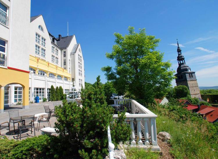 Hotel Residenz Bad Frankenhausen Terrasse