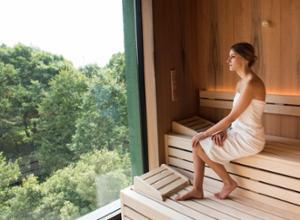 Parkhotel Schillerhain Sauna mit Ausblick