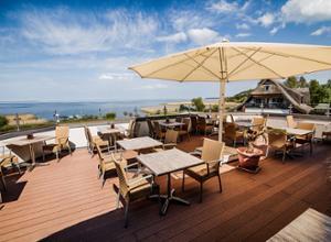 Hotel Ferienanlage Haffhus Terrasse mit Aussicht