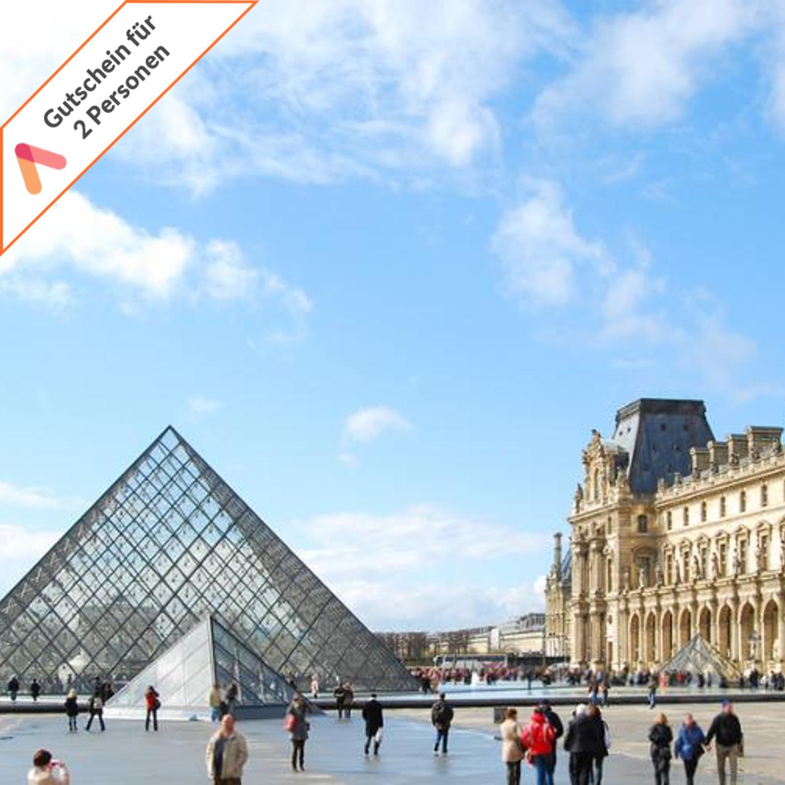 Kurzreise-Paris-4-Tage-fuer-2-Personen-modernes-Komfort-Hotel-Fruehstueck-Gutschein