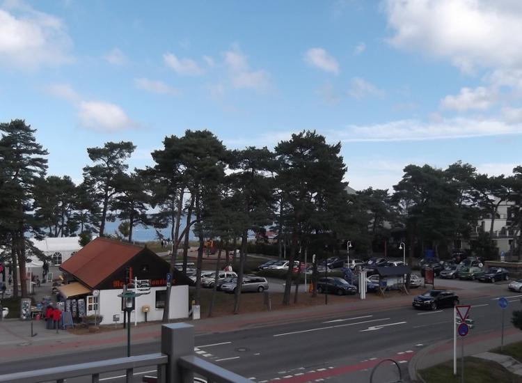 Hotel Garni Meeresblick Ausblick vom Balkon