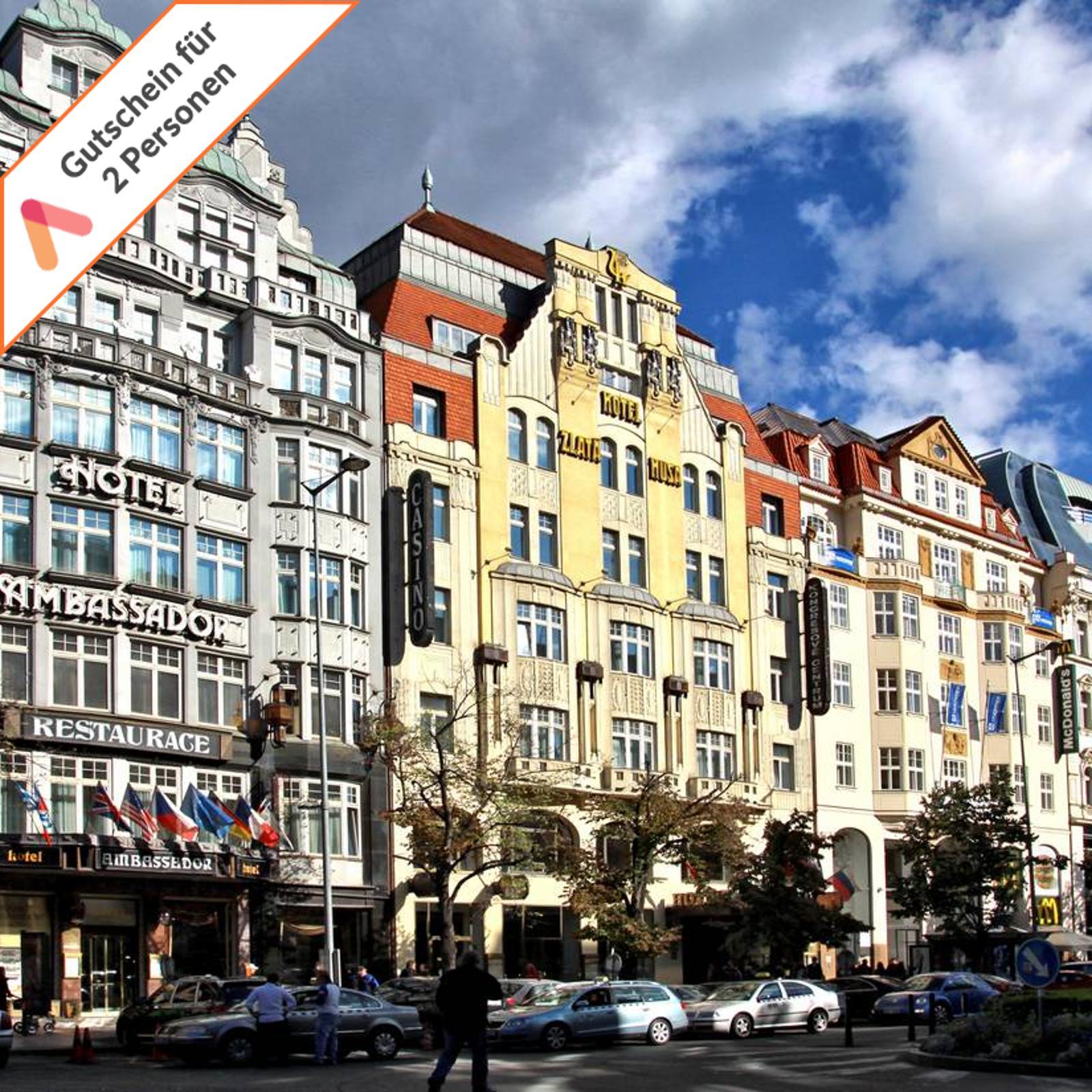 Luxus Kurzurlaub Prag 5 Sterne Hotel 3 Tage für 2 Personen Hotelgutschein Sauna