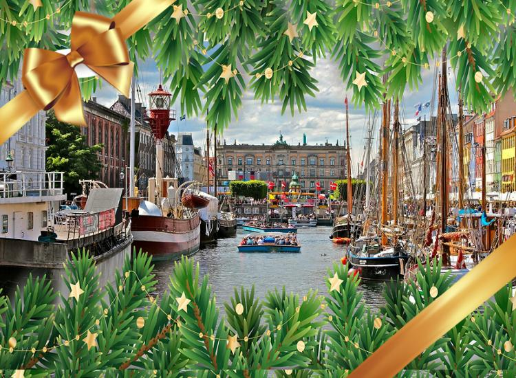 Kopenhagen mit Weihnachtsoverlay