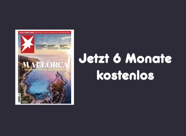 """Gutschein für 6 Monate gratis """"Stern"""" lesen"""