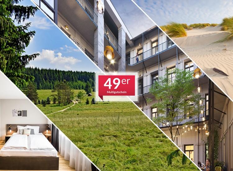Multigutschein für über 50 Hotels + 50€ Wertgutschein geschenkt!